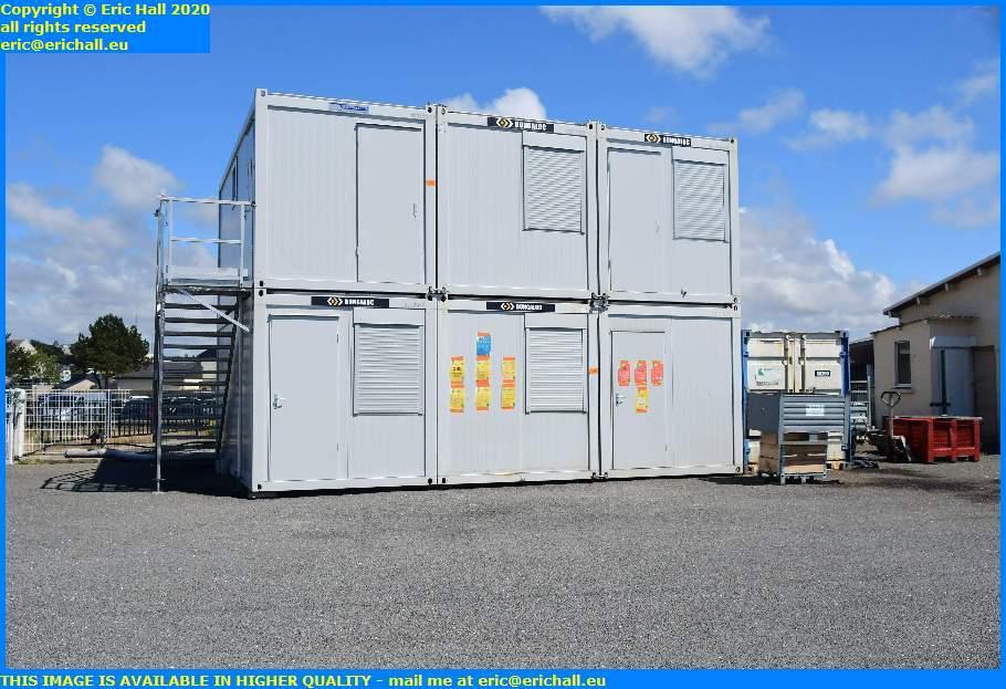 portable offices port de granville harbour manche normandy france eric hall