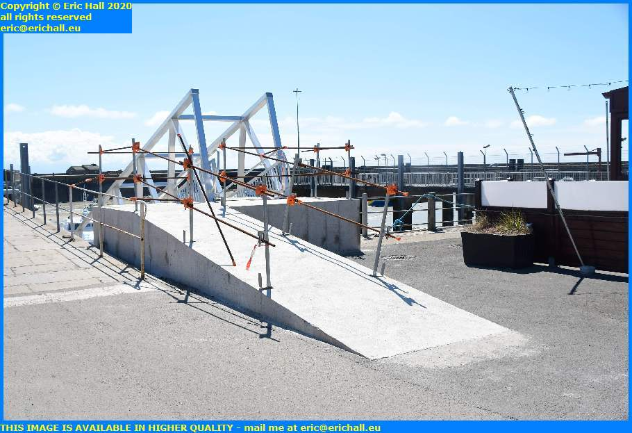 ramp up to new walkway ferry terminal port de granville harbour manche normandy france eric hall