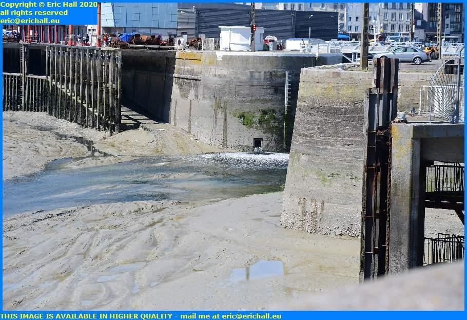 water evacuation point port de granville harbour manche normandy france eric hall