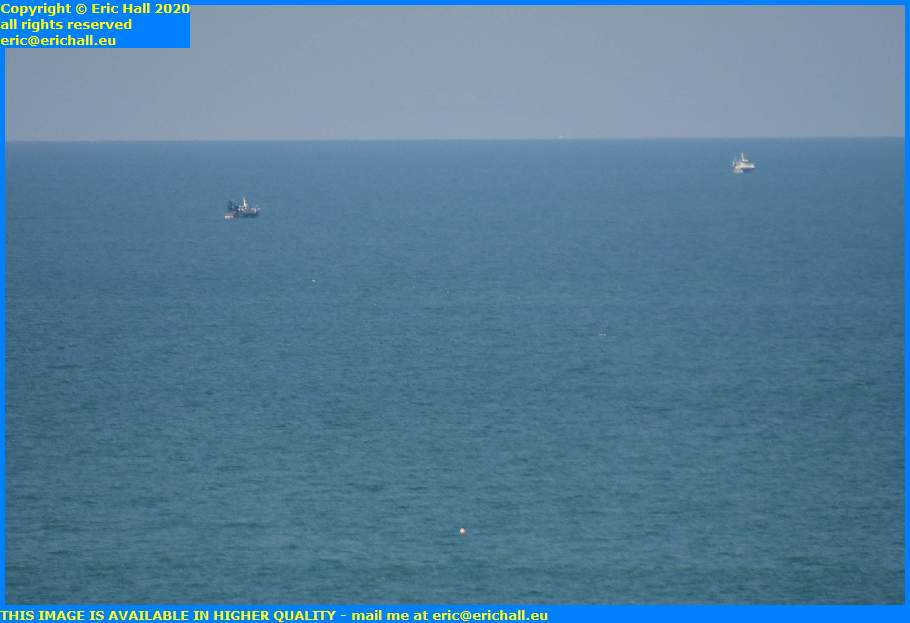trawlers buoy english channel granville manche normandy france eric hall