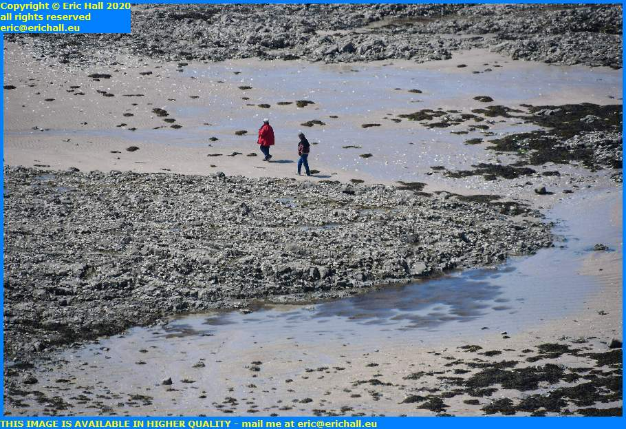 people on beach pointe du roc granville manche normandy france eric hall