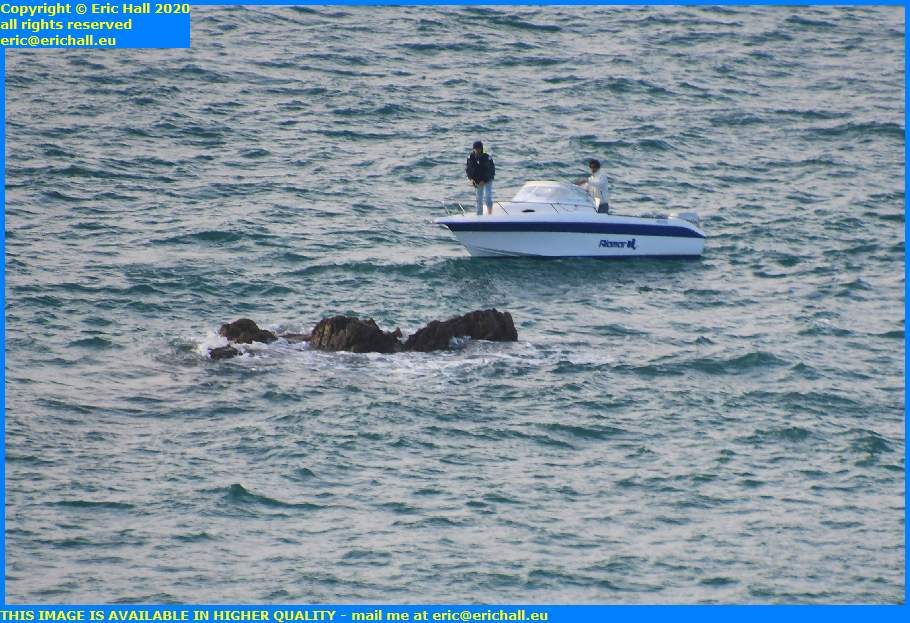 speedboat rocks english channel granville manche normandy france eric hall
