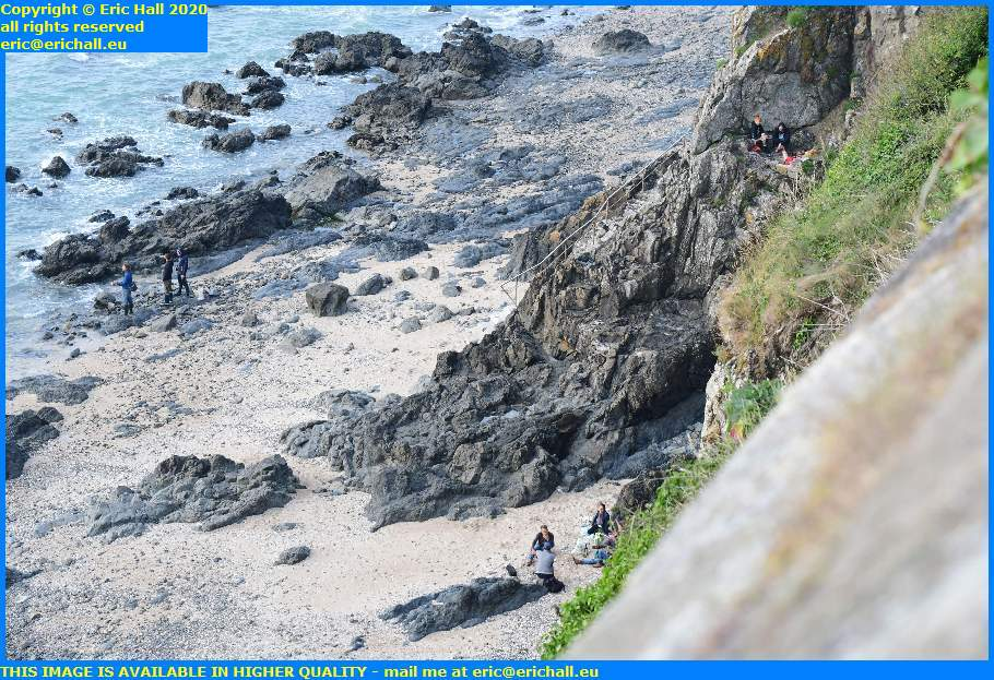picnicking on beach plat gousset granville manche normandy france eric hall