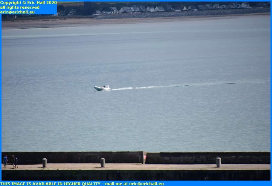 speedboat baie de mont st michel granville manche normandy france eric hall