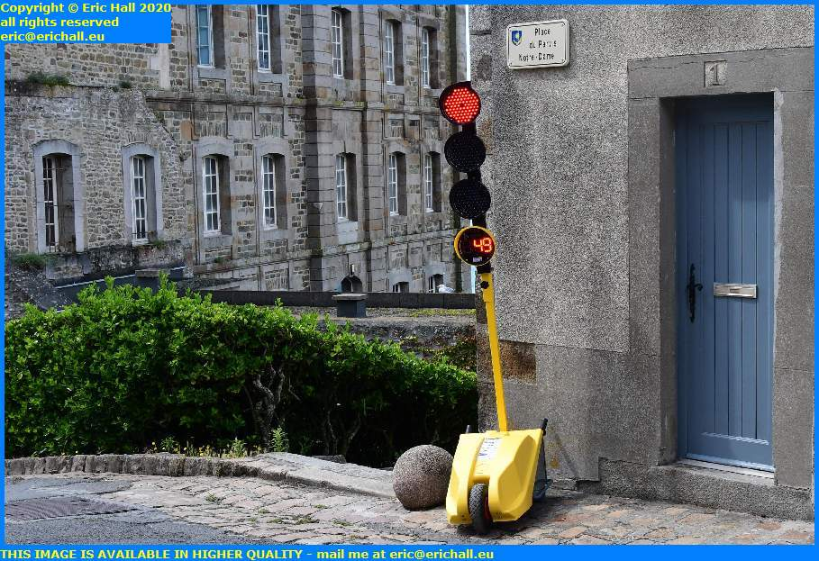 traffic lights place du parvis notre dame granville manche normandy france eric hall