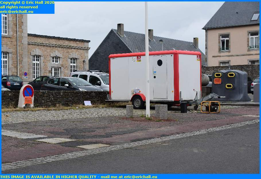 workers van place d'armes granville manche normandy france eric hall