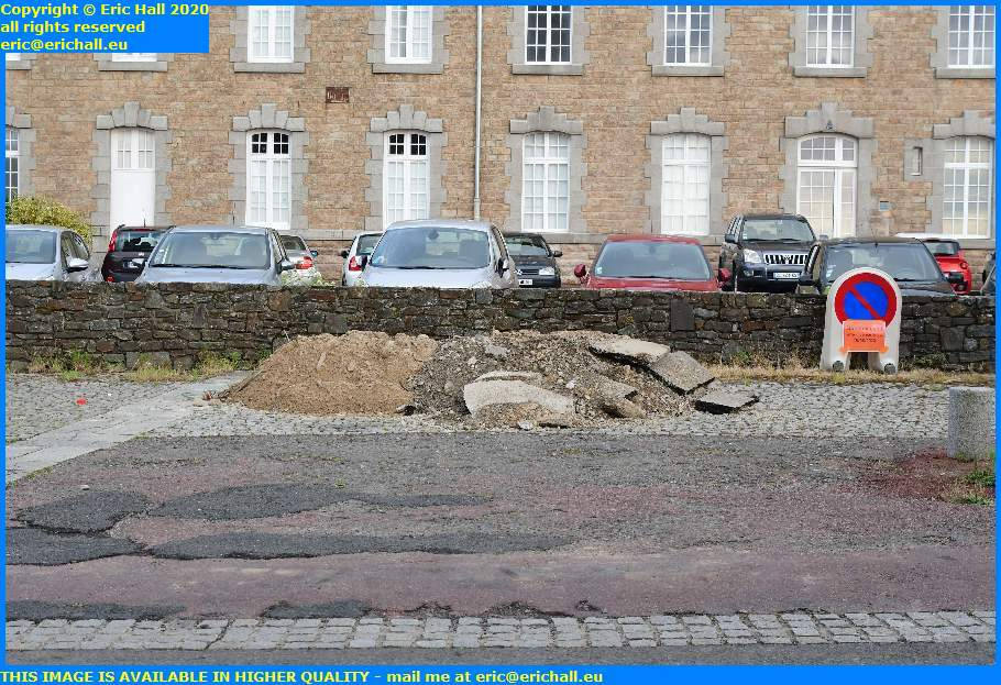 pile of rubble place d'armes granville manche normandy france eric hall