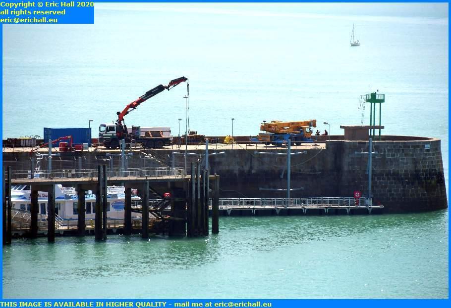 cranes ferry terminal port de granville harbour manche normandy france eric hall