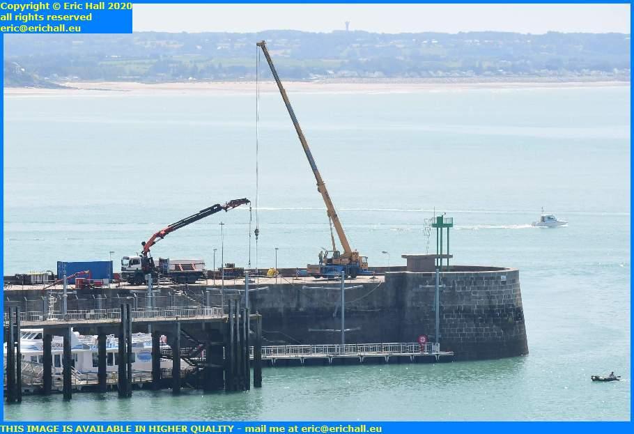 joly france cranes ferry terminal port de granville harbour  manche normandy france eric hall