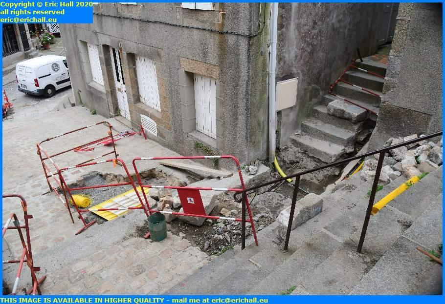 gas pipe rue lecarpentier granville manche normandy france eric hall