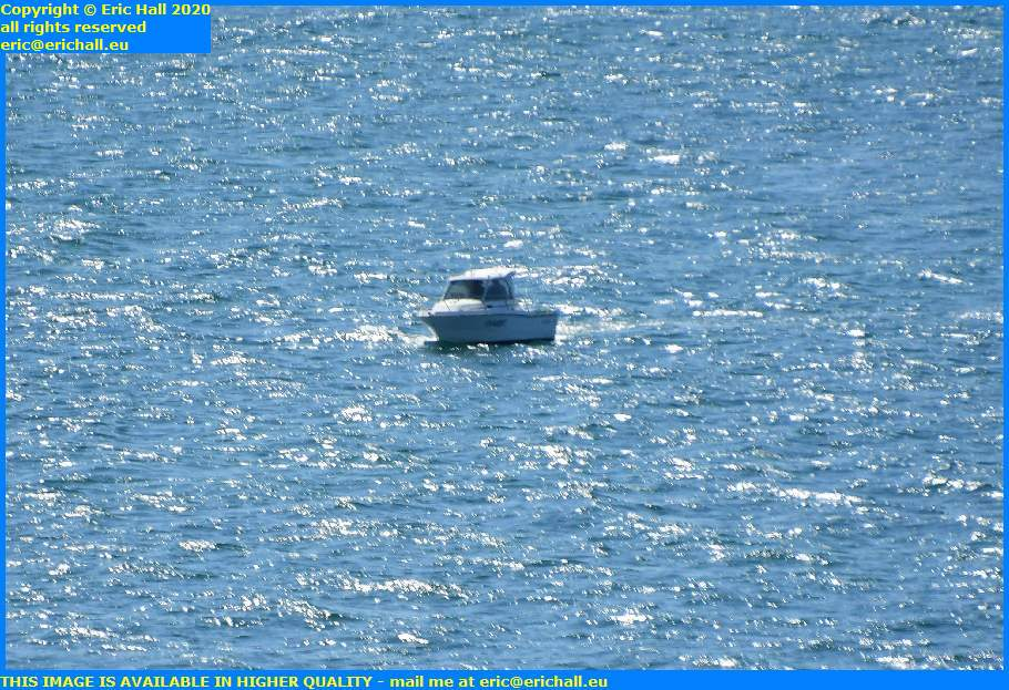 speedboat fishing baie de mont st michel granville manche normandy france eric hall