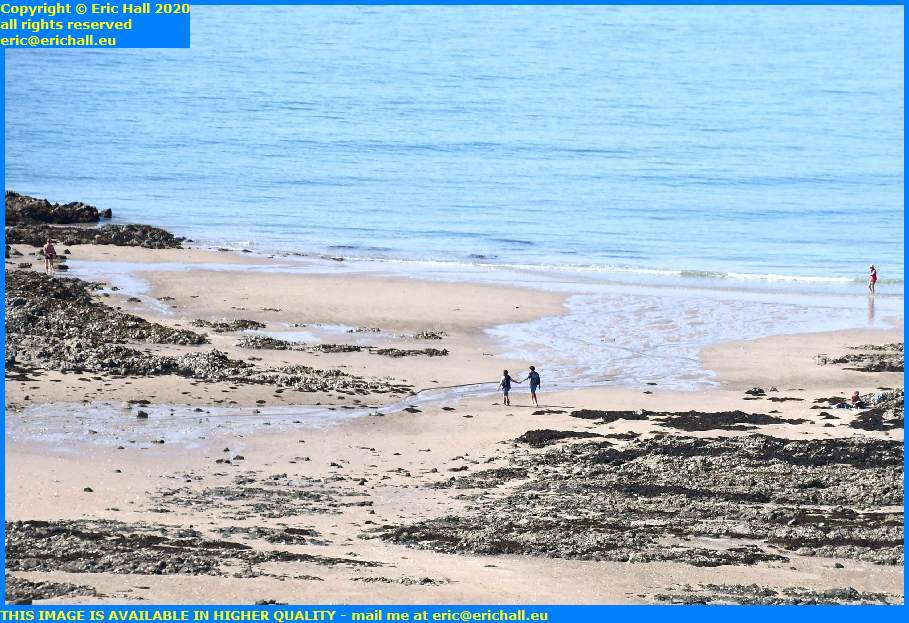 lovers on beach pointe du roc granville manche normandy france eric hall
