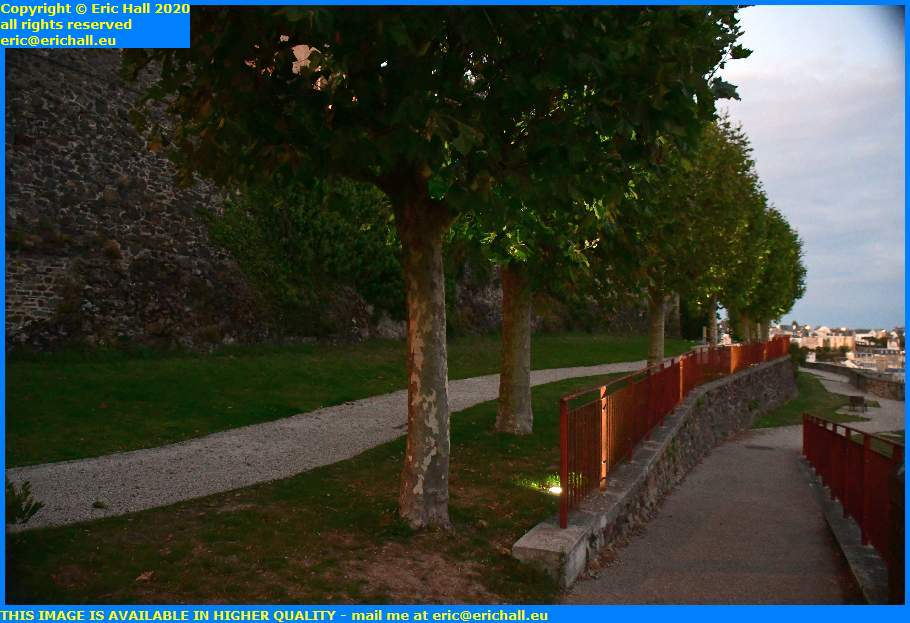 illuminated trees square Maurice Marland granville manche normandy france eric hall