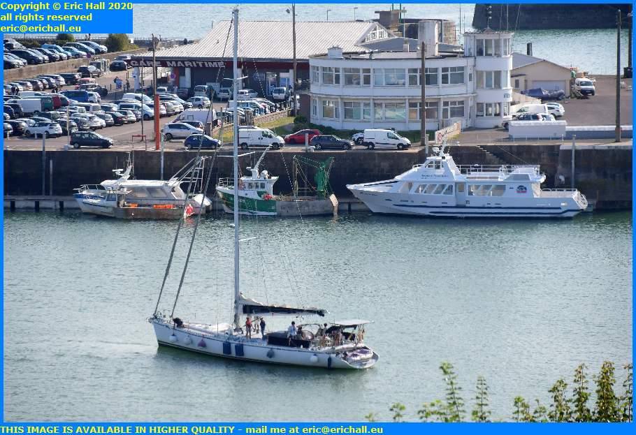 joly france 1 yacht entering port de granville harbour manche normandy france eric hall