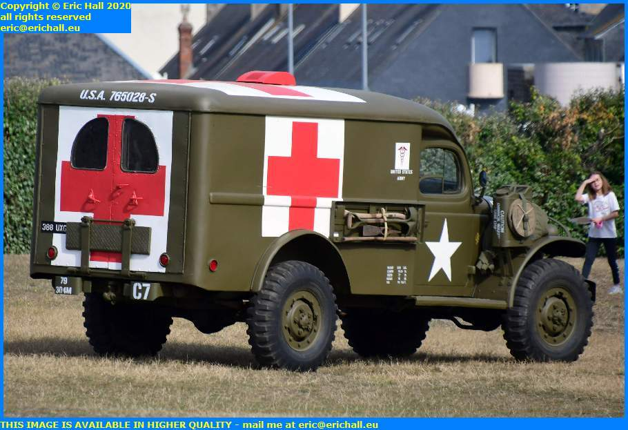 old cars usa wartime ambulance pointe du roc granville manche normandy france eric hall