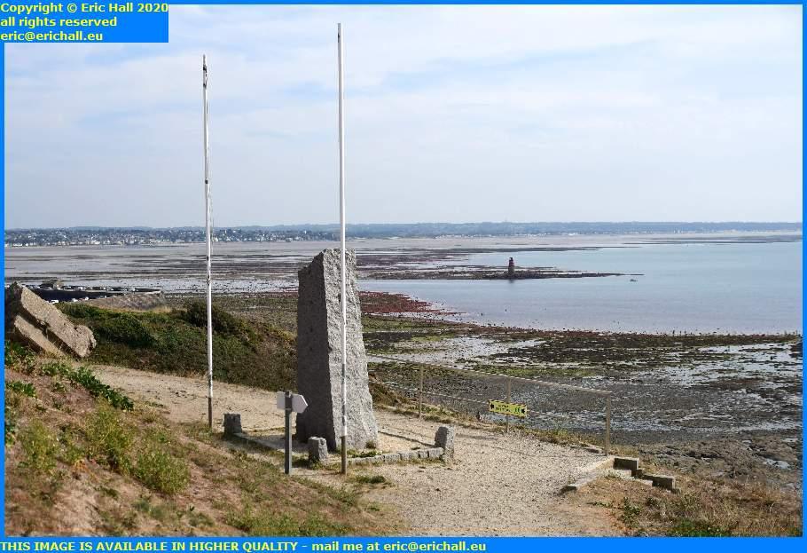 seafarers monument low tide baie de mont st michel granville manche normandy france eric hall