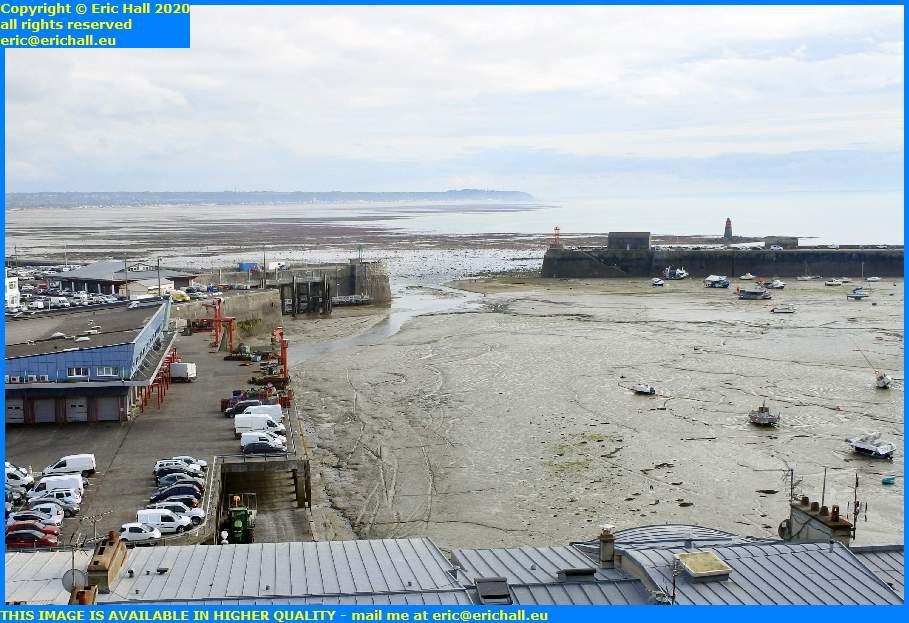 low tide out baie de mont st michel port de granville harbour manche normandy france eric hall
