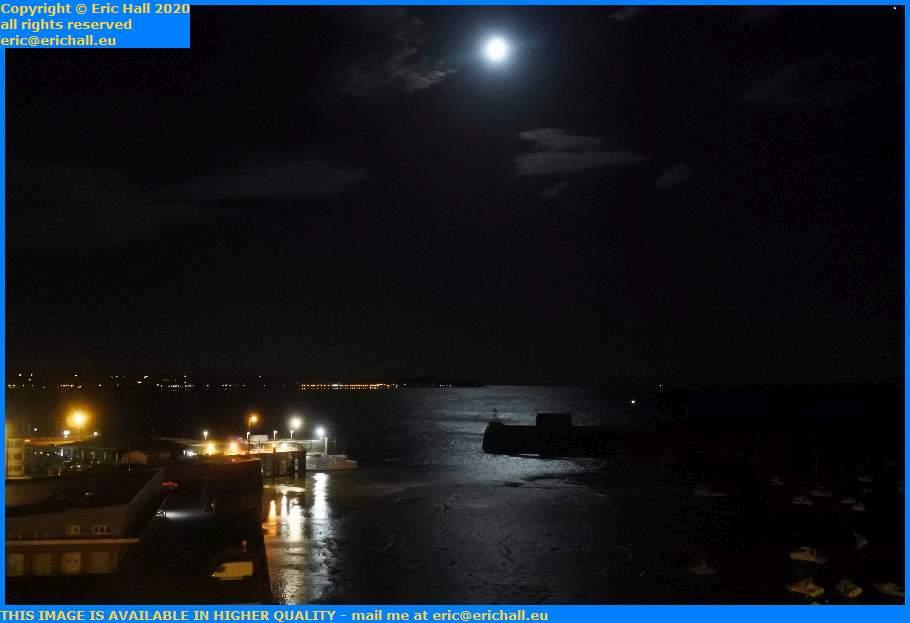 moonlight baie de mont st michel port de granville harbour manche normandy france eric hall