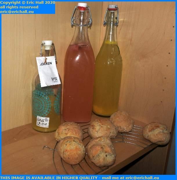 orange kefir strawberry bread rolls place d'armes granville manche normandy france eric hall