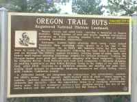 Southern Wyoming - Oregon and California Trail - trail ruts noticeboard