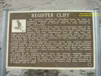 Southern Wyoming Register Cliff on the Oregon and California Trail explanatory noticeboard