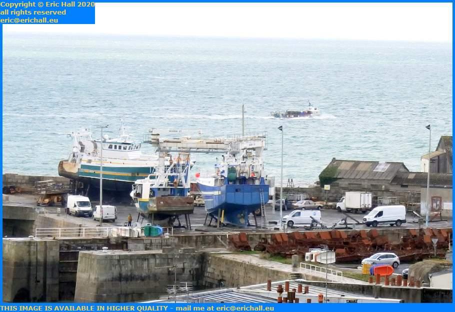 La Grande Ancre Le Tiberiade Chantier Navale Port de Granville Harbour Manche Normandy France Eric Hall