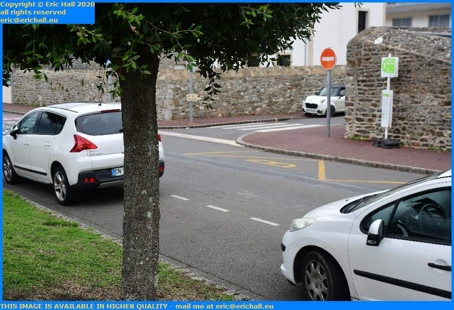 Bad Parking Rue St Pierre Granville Manche Normandy France Eric Hall