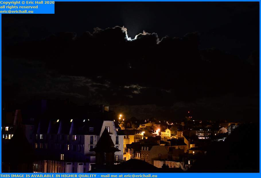 Moonlight Behind Clouds Granville Manche Normandy France Eric Hall
