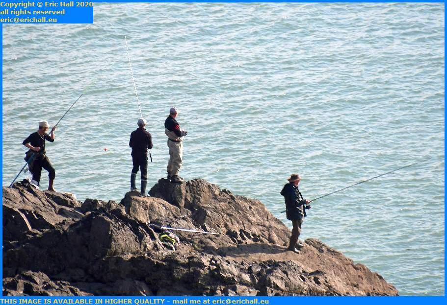Fishing Pointe du Roc Granville Manche Normandy France Eric Hall