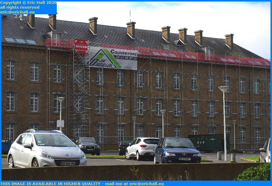 Scaffolding College Malraux Place d'Armes Granville Manche Normandy France Eric Hall