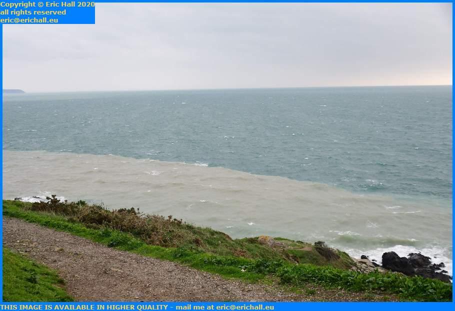 different colours tidal settlement baie de mont st michel pointe du roc Granville Manche Normandy France Eric Hall