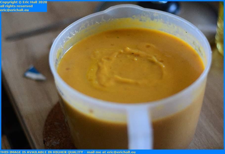 butternut squash soup place d'armes Granville Manche Normandy France Eric Hall