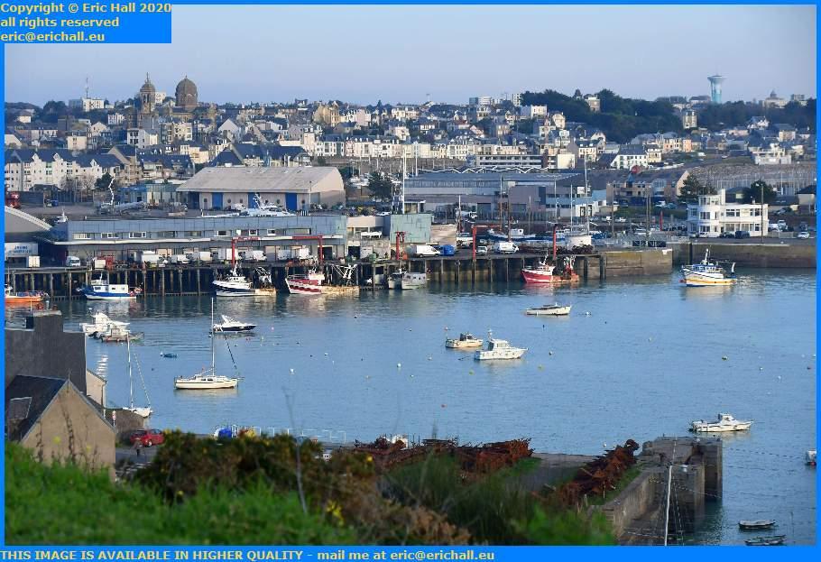 trawlers fish processing plant port de Granville harbour Manche Normandy France Eric Hall