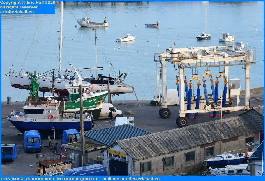 ceres 2 chantier navale trawler port de Granville harbour Manche Normandy France Eric Hall