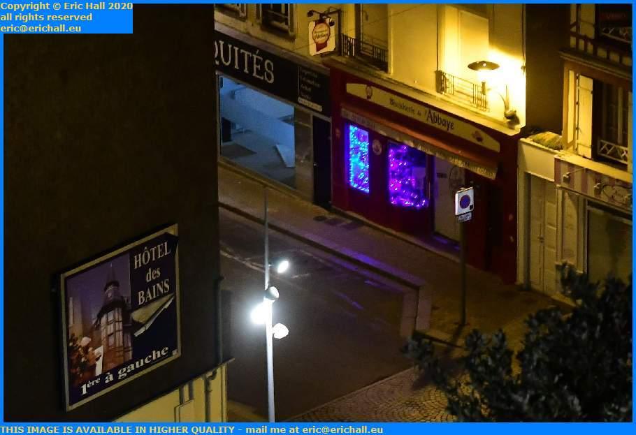 christmas lights avenue de la liberation Granville Manche Normandy France Eric Hall