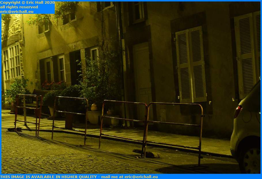 parking blocked off avenue notre dame Granville Manche Normandy France Eric Hall