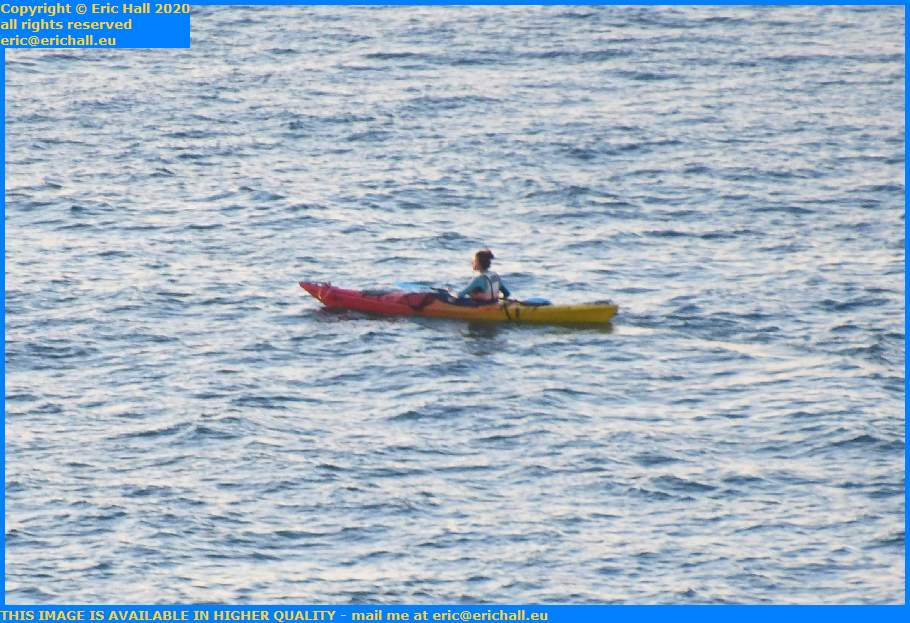 kayaker english channel Granville Manche Normandy France Eric Hall