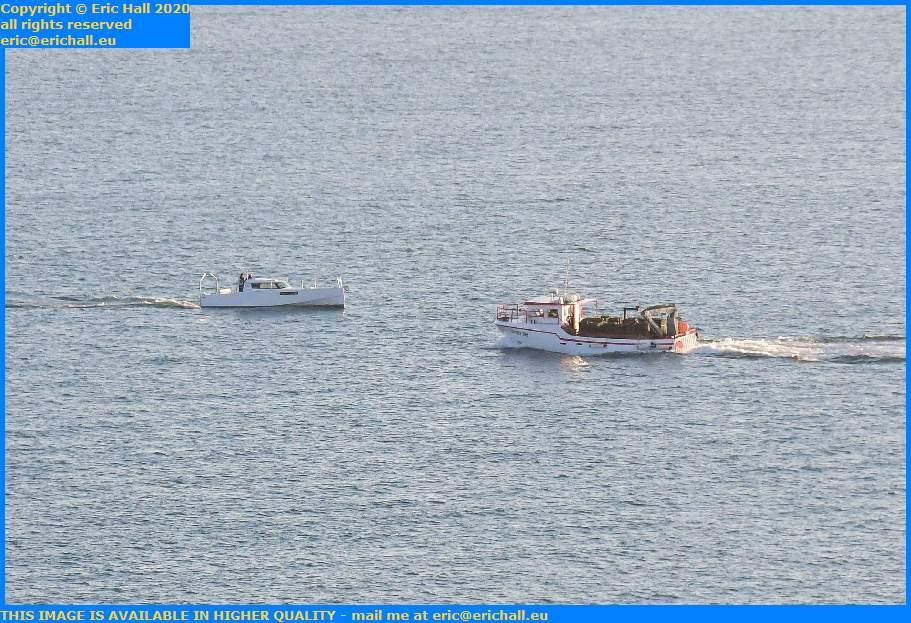 boats meeting baie de mont st michel Granville Manche Normandy France Eric Hall