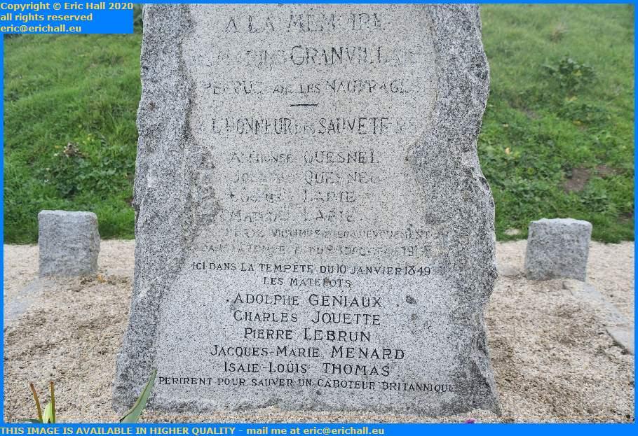 seafarers monument pointe du roc Granville Manche Normandy France Eric Hall