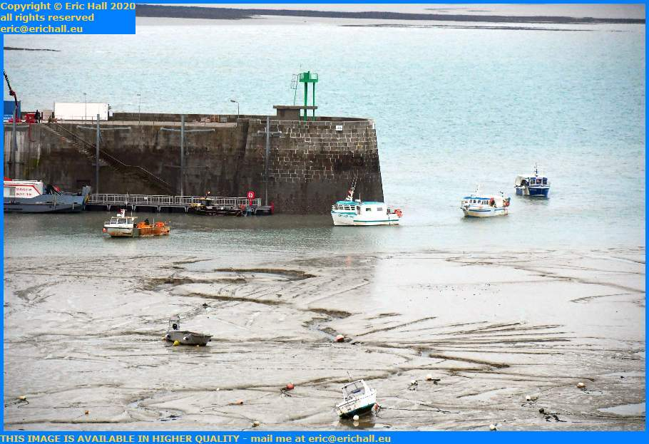 fishing boats coming into port de Granville harbour Manche Normandy France Eric Hall