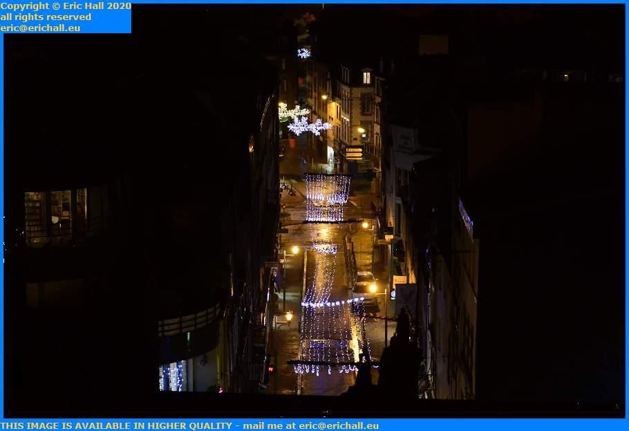 christmas lights rue paul poirier Granville Manche Normandy France Eric Hall