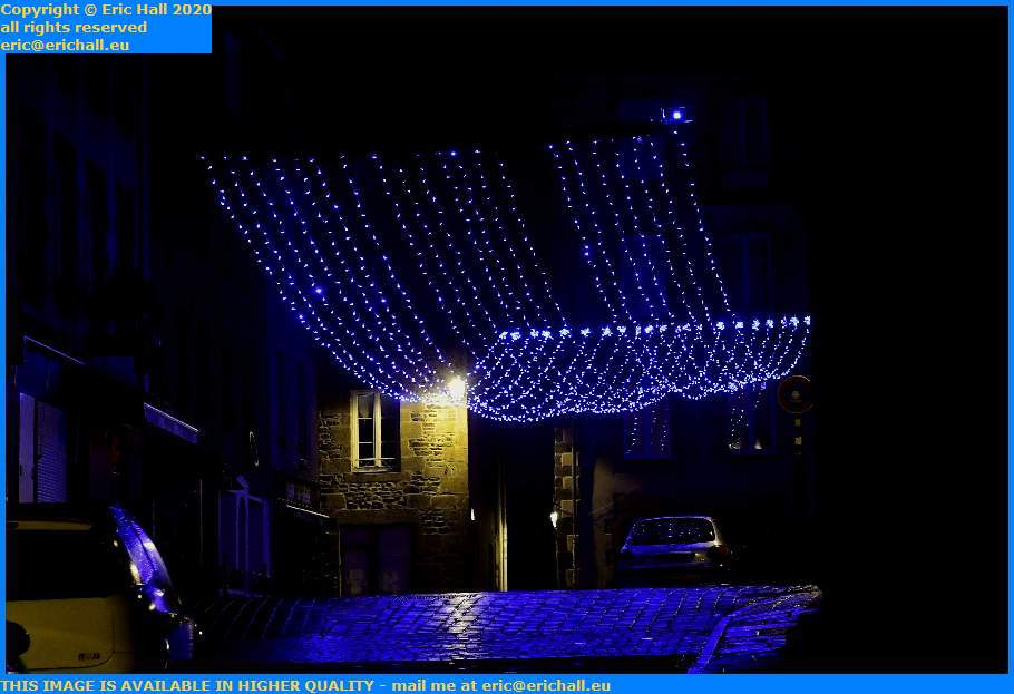 christmas lights place cambernon Granville Manche Normandy France Eric Hall