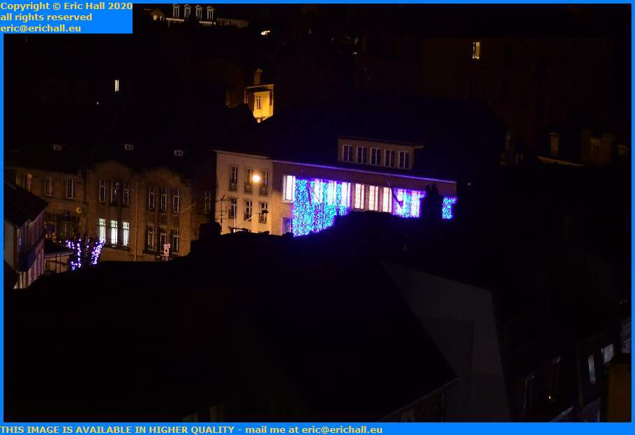 christmas lights mairie cours jonville Granville Manche Normandy France Eric Hall