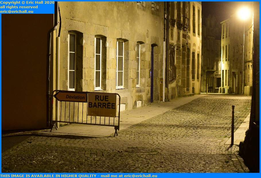 road closed rue st jean Granville Manche Normandy France Eric Hall