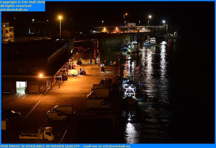 trawlers entering port de Granville harbour Manche Normandy France Eric Hall