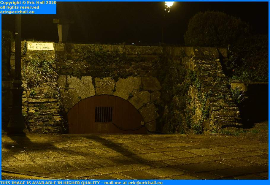 gate in fortifications place de l'isthme Granville Manche Normandy France Eric Hall