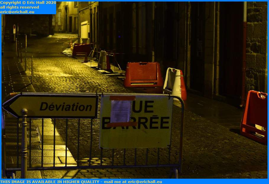 road works rue st jean Granville Manche Normandy France Eric Hall