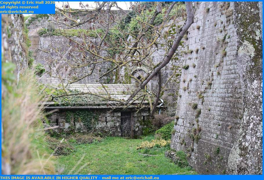 trench fortifications medieval city wall Granville Manche Normandy France Eric Hall