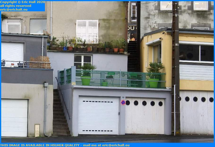 steps from rue couraye down to rue roger maris Granville Manche Normandy France Eric Hall