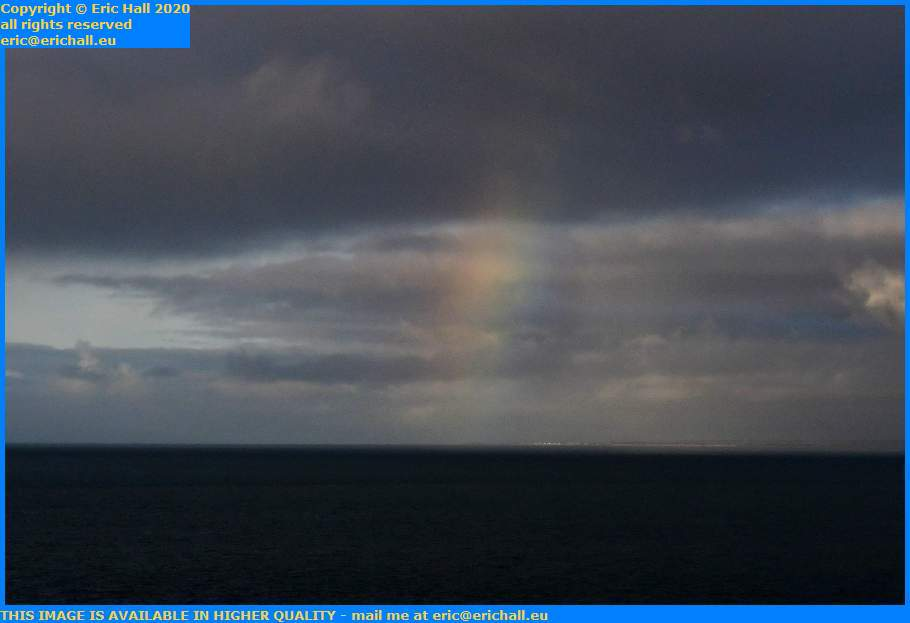 rainbow english channel hauteville sur mer Granville Manche Normandy France Eric Hall